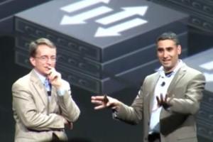 VMware CEO Pat Gelsinger and chief networking architect Martin Casado at VMworld 2013.