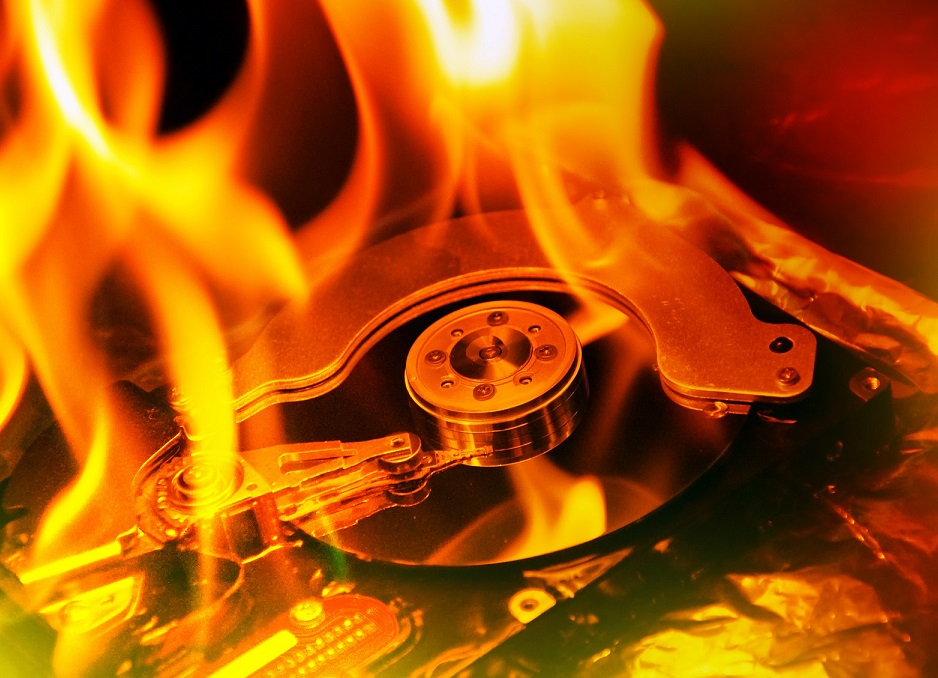 http://www.dreamstime.com/royalty-free-stock-image-computer-hard-disk-burning-image26577446