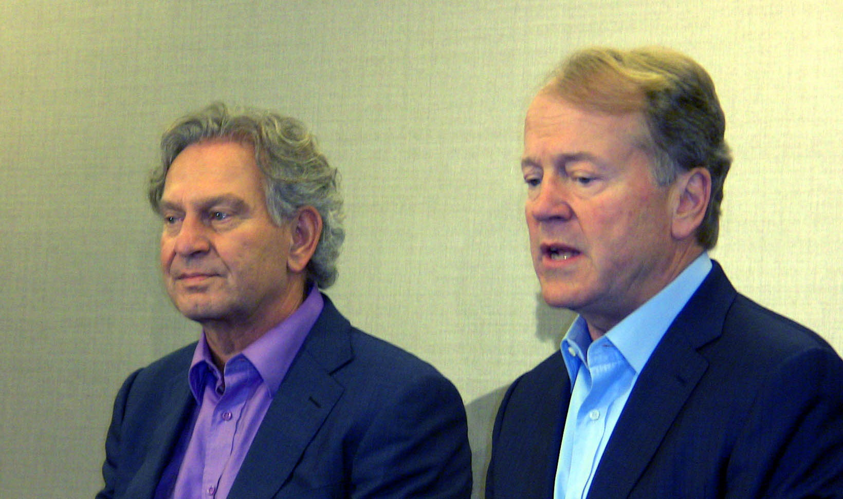 Chief globalization officer, Wim Elfrink and Cisco CEO John Chambers